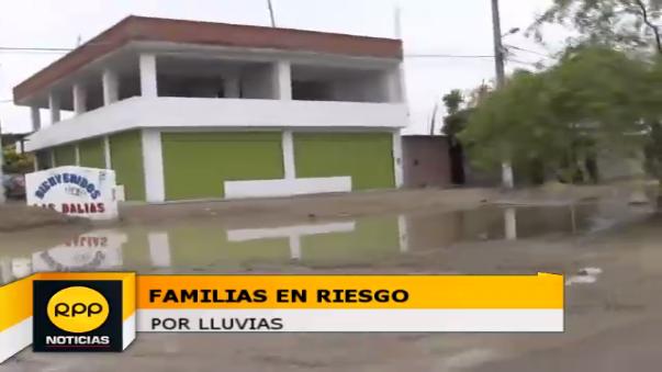 Familias en riesgo por lluvias.