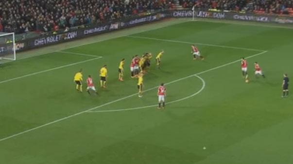 El golazo de tiro libre de Juan Mata que salvó al Manchester United