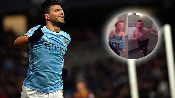 La euforia del hincha de Manchester City.