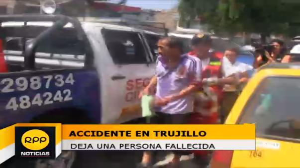 Accidente en Trujillo deja un fallecido.