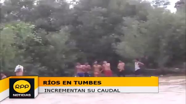 Ríos en Tumbes incrementan su caudal.