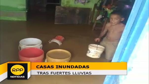 Casas inundadas en Tumbes.