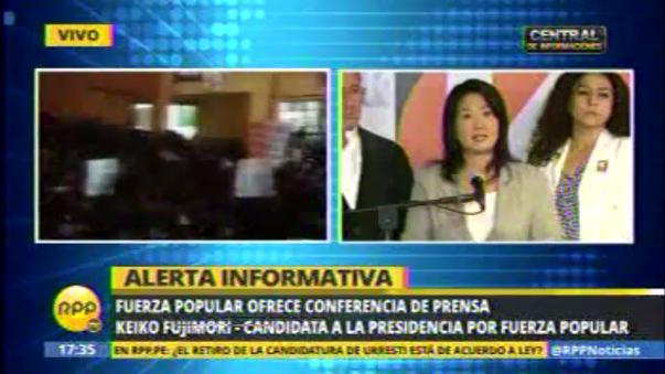 Keiko Fujimori dio conferencia de prensa