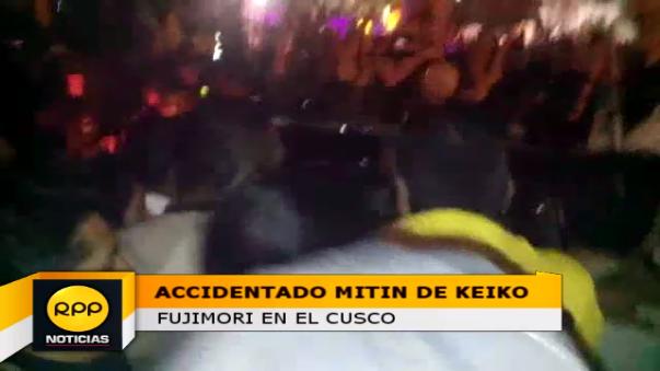Accidentado mitin de Keiko Fujimori en Cusco
