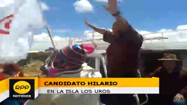 Candidato Miguel Hilario en Puno.