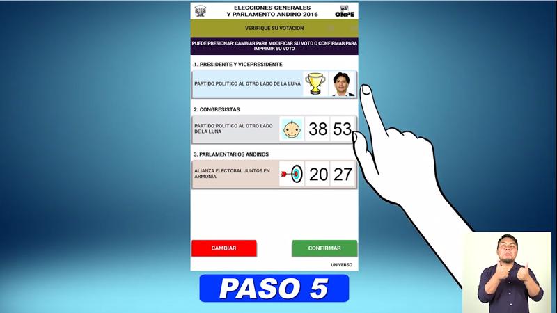A través de este video la ONPE muestra cómo realizar el voto electrónico correctamente.
