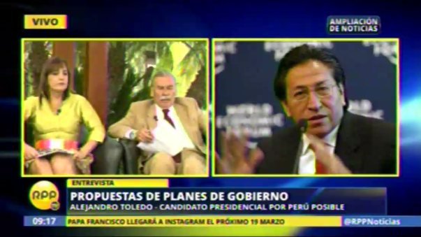 El candidato de Perú Posible también habló de seguridad ciudadana y educación.