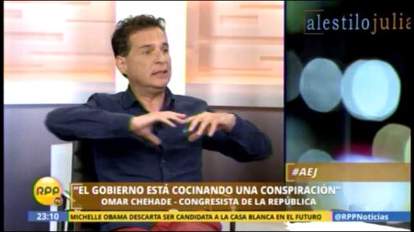 Omar Chehade acusa al presidente Ollanta Humala y su esposa de querer fugar del país
