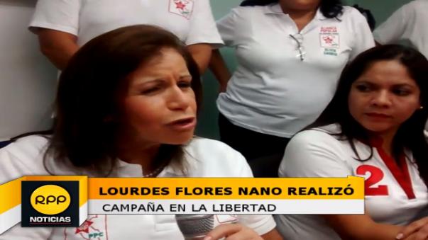 Lourdes Flores realizará una gira proselitista por las provincias de Trujillo y Pacasmayo.