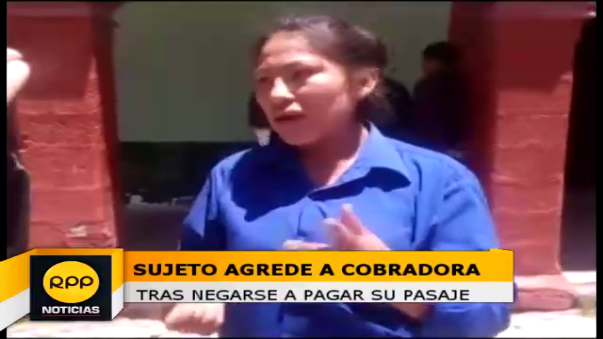 Agreden a cobradora.