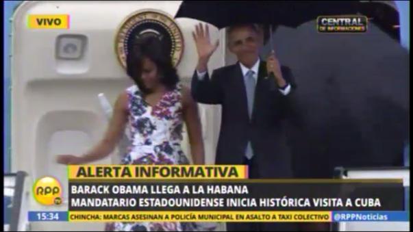 Barack Obama llega a La Habana en visita oficial