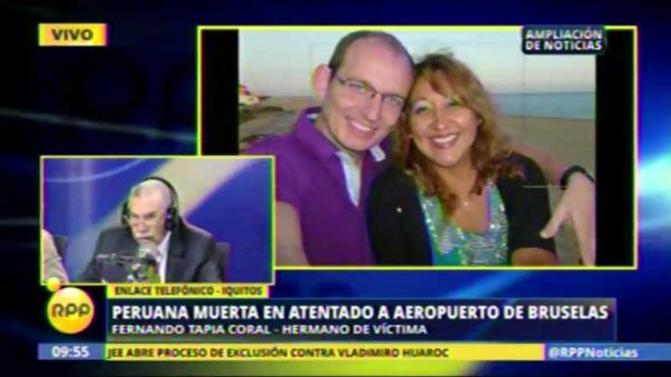 La noticia fue dada a conocer por Fernando Tapia Coral, el hermano de la víctima.