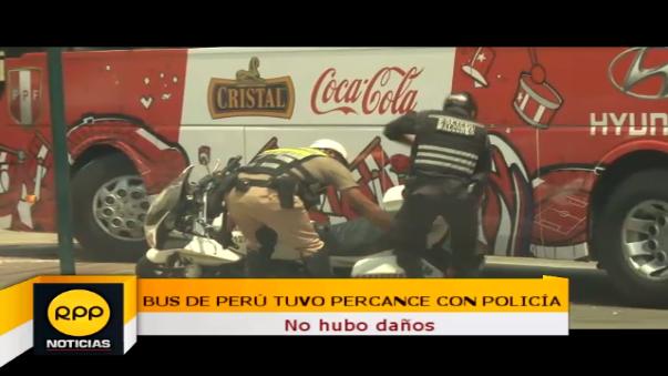 Bus de Perú y su percance con policía.