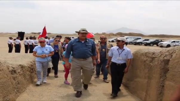 Jefe de Estado de Costa Rica conoció el legado de la cultura Chimú.