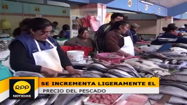 El precio del pescado se incrementó en un 10%, lo que ocasionó la sorpresa de algunas amas de casa.