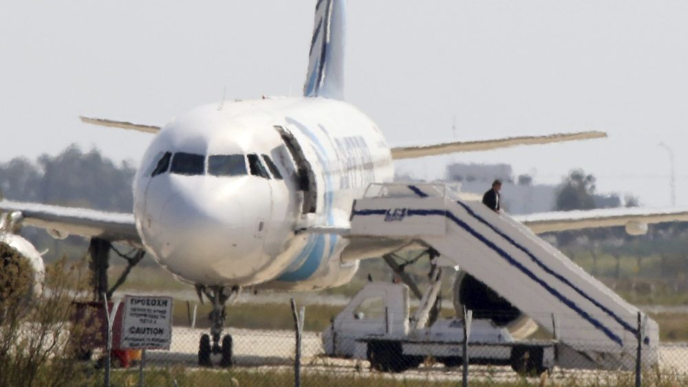 En Egipto y Chipre se vivieron tres horas de tensión por este secuestro.