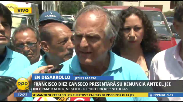 Francisco Diez Canseco retiró su candidatura.