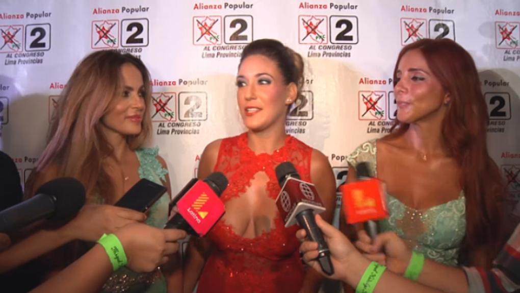 Tilsa Lozano se presentó junto a las exVengadoras en un evento político.