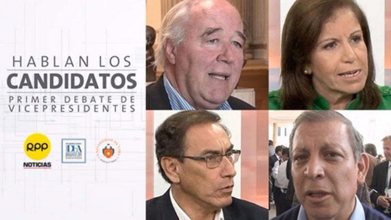 Debate entre candidatos a la vicepresidencia del Perú