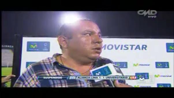 Renzo Gayoso, delegado de Alianza Lima, confirmó la reprogramación del partido.