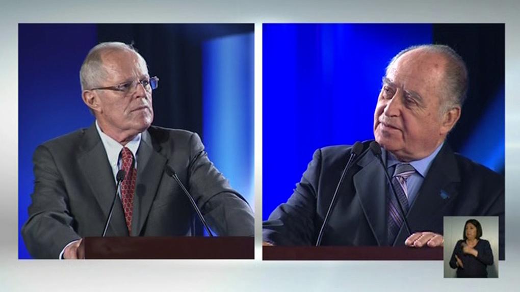 Pedro Pablo Kuczynski y Antero Flores Araoz se enfrentaron en el debate presidencial del JNE