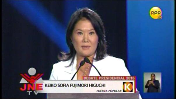 Keiko Fujimori se comprometió a respetar el orden democrático y de los derechos humanos.