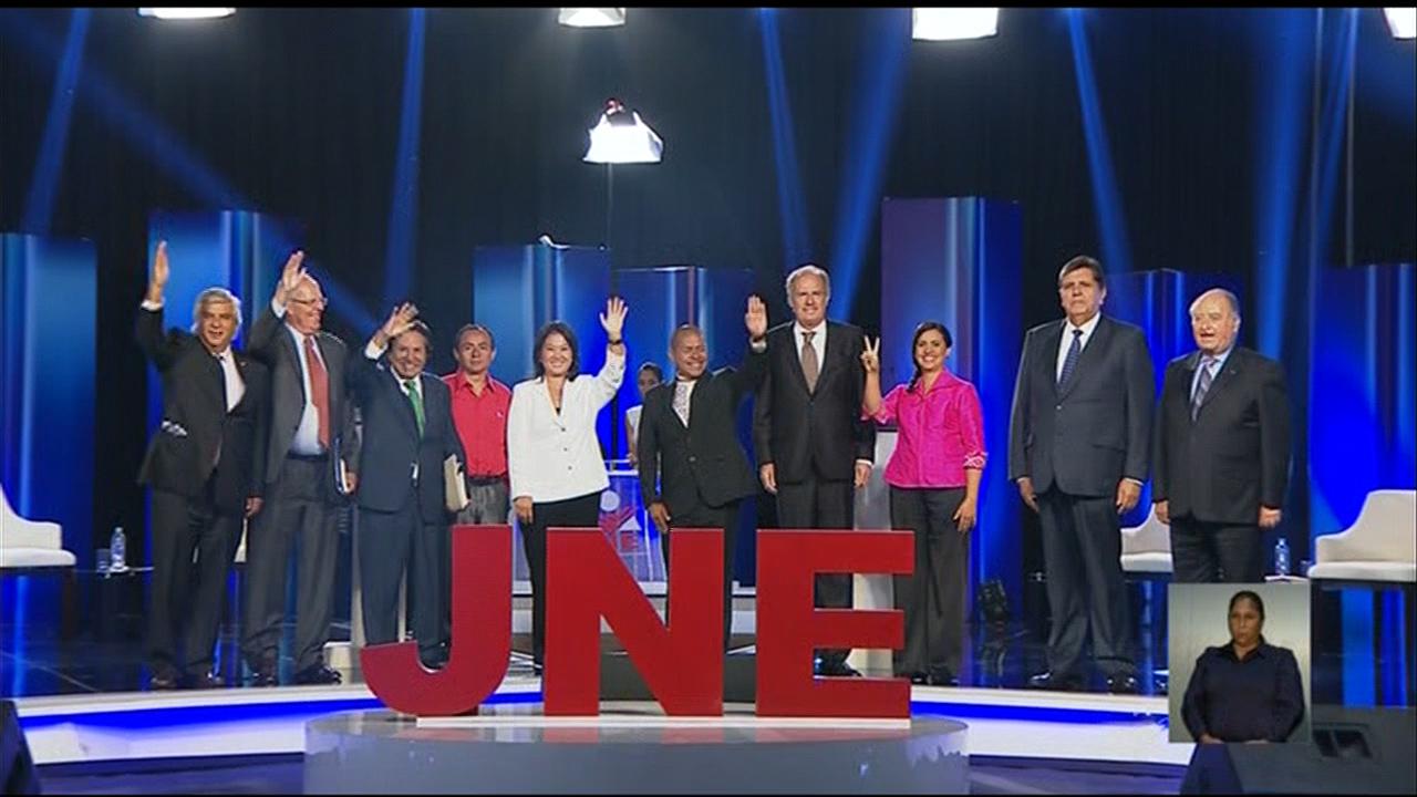 El debate presidencial fue organizado por JNE y fue el único a donde asistieron todos los candidatos que participarán en las elecciones.