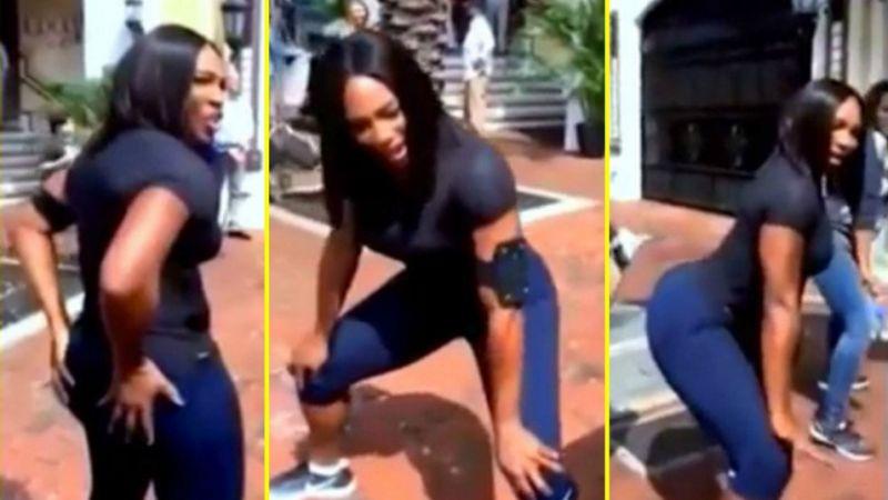 Sorprendió Serena Williams.