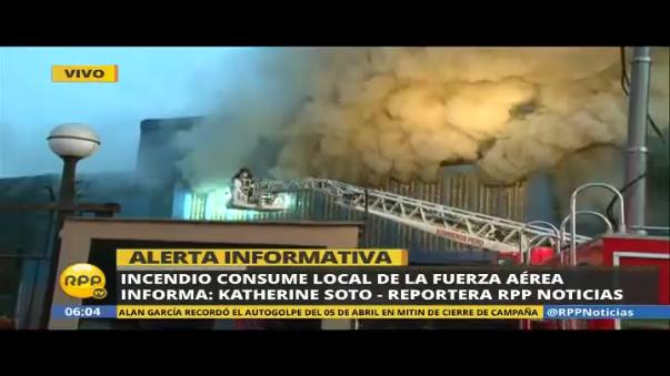 Incendio en las instalaciones de la FAP