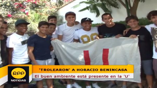 Hicierona 'leña' a Horacio Benincasa
