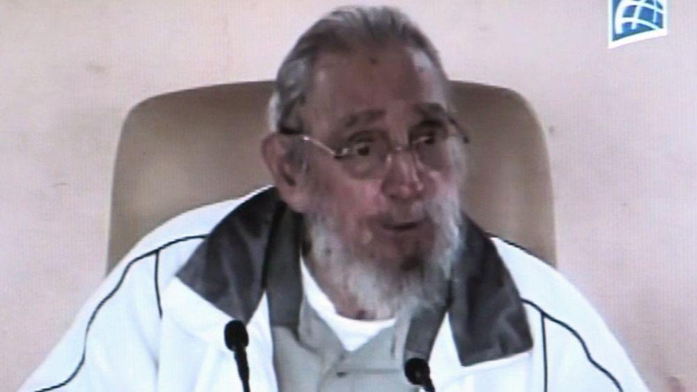 Es la primera aparición pública de Fidel Castro desde enero de 2014.