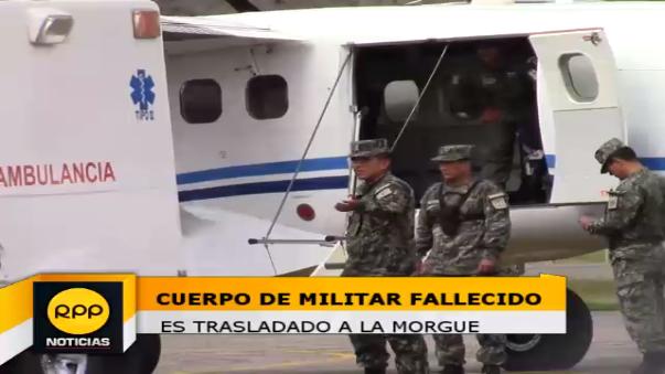 Cuerpo de militar fallecido es trasladado a Huancayo