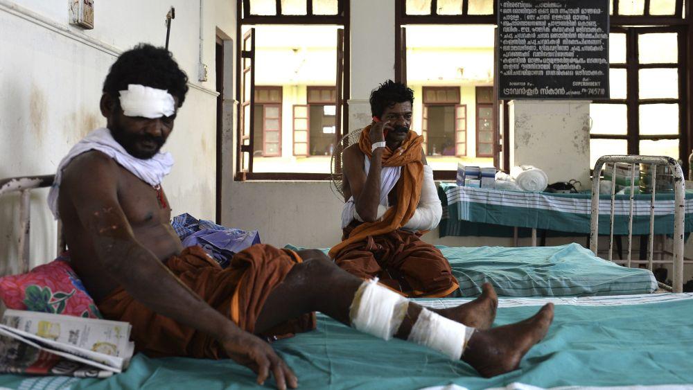 Los heridos se encuentran en diversos hospitales del distrito de Kollam.