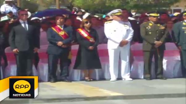 Homenaje en Plaza de Armas de Huancayo.