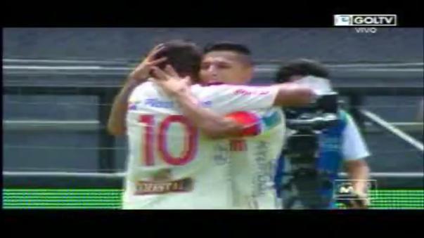 Diego Guastavino y Raúl Ruidíaz marcaron para Universitario, mientras que Julio Landauri empató antes de que se suspenda.