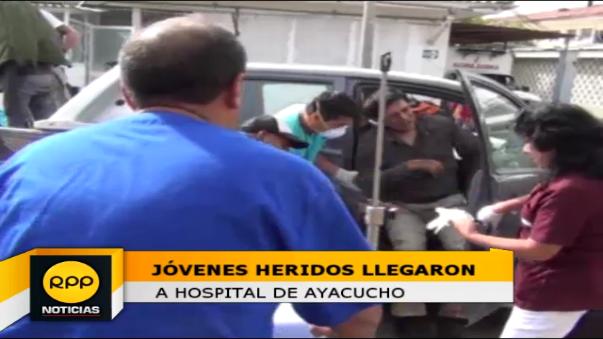 Llegada de los heridos a Ayacucho