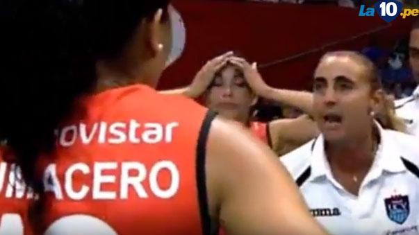 Natalia Málaga explotó en cólera contra voleibolista