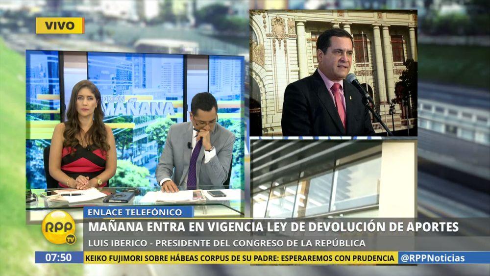 Iberico señaló que Humala aún puede presentar acción contra la ley.