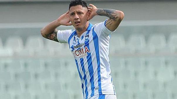 Lapadula volvió a marcar en Italia.