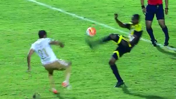 La brutal patada en la Copa Libertadores
