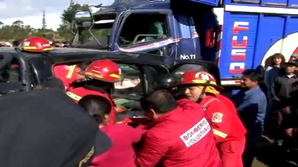 Accidente en Cajamarca dejó cinco heridos de consideración.