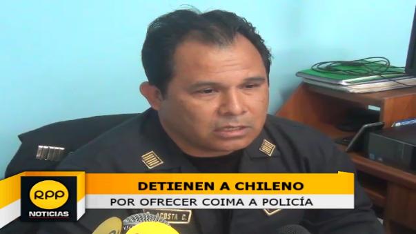 Ciudadano chileno intentó sobornar a un policía durante intervención.