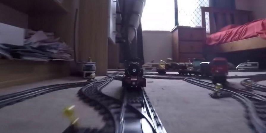 El recorrido fue grabado con una cámara Go Pro y, posteriormente, el video fue subido a YouTube donde no tardó en hacerse viral.