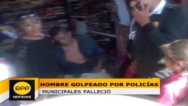 Agentes municipales que agredieron a Alfredo Huarcaya fueron separados mientras dura la investigación.
