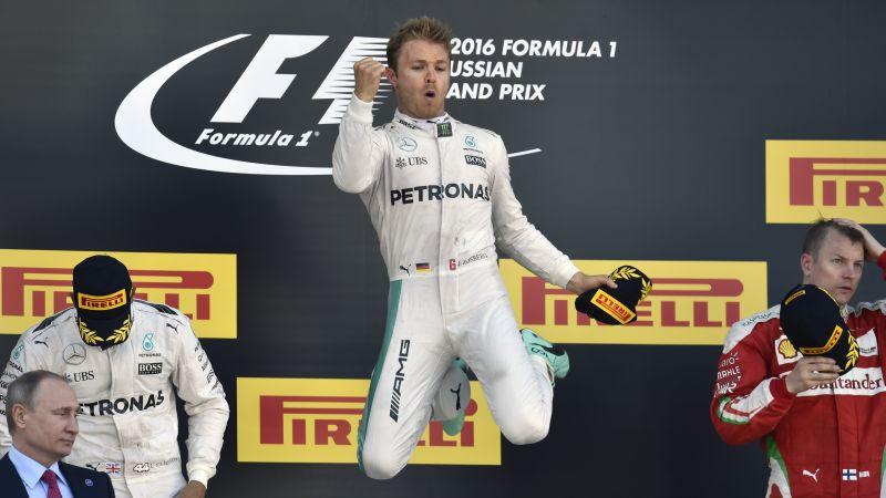 El piloto alemán Nico Rosberg (Mercedes) conquistó este domingo en Sochi el Gran Premio de Rusia de Fórmula 1, por delante de Lewis Hamilton y Kimi Raikkonen.