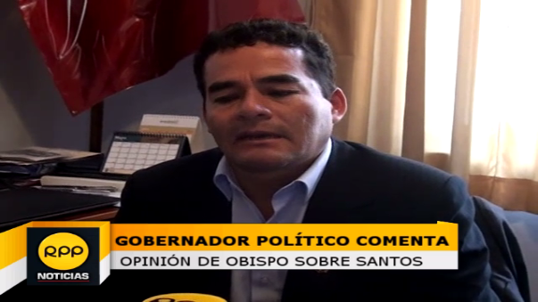 Gobernador Regional de Cajamarca discrepa con lo dicho por el obispo