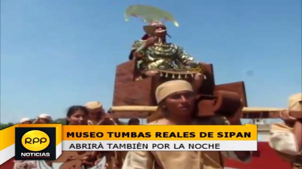 Museo Tumbas Reales abrirá sus puertas desde las 7:00 pm hasta las 10:30 pm este viernes 13 de mayo