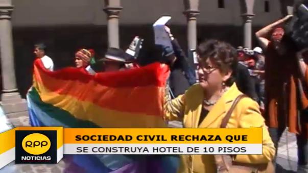 Manifestantes piden al Poder Judicial paralice la obra que atenta al Patrimonio Cultural.
