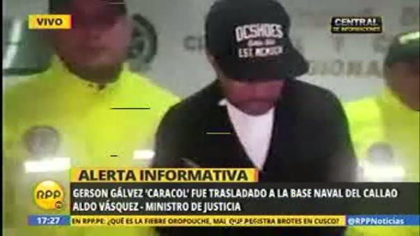 Gerson Gálvez es reubicado en la Base Naval del Callao.