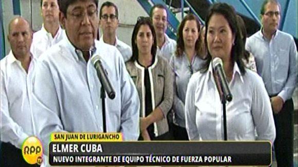 Cuba fue presentado durante la visita de Fujimori a una planta de reciclaje en San Juan de Lurigancho.